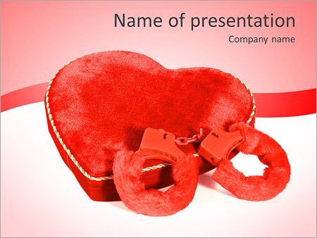 Шаблон презентации Сердце и наручники - Титульный слайд