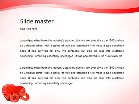 Шаблон PowerPoint Сердце и наручники - Второй слайд
