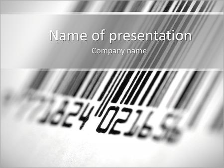 Шаблон презентации Штрих-код - Титульный слайд