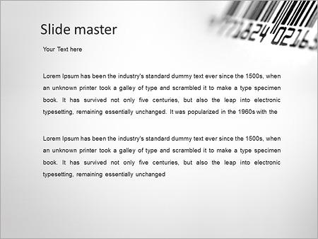 Шаблон PowerPoint Штрих-код - Второй слайд