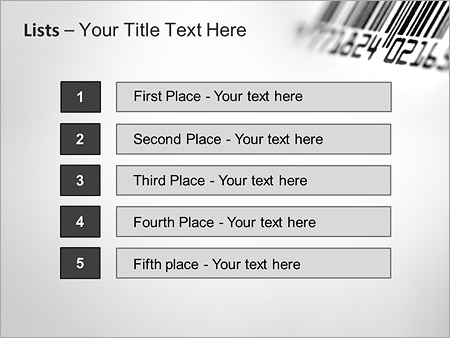 Шаблон для презентации Штрих-код - Третий слайд