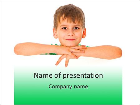 Шаблон презентации Мальчик с улыбкой - Титульный слайд