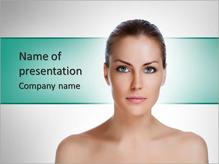 Шаблон презентации Омоложение кожи и уход за телом - Титульный слайд