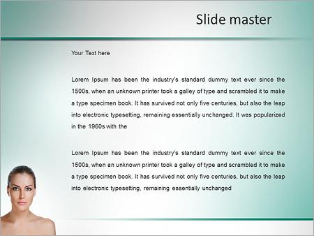 Шаблон PowerPoint Омоложение кожи и уход за телом - Второй слайд