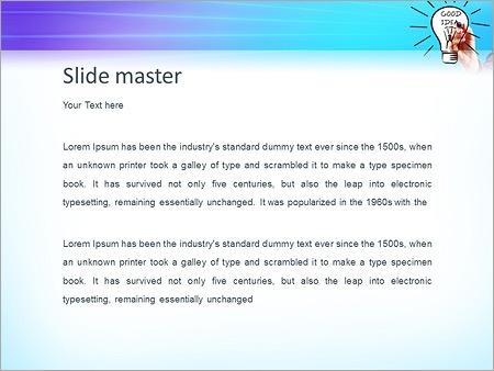 Шаблон PowerPoint Бизнес идея - Второй слайд