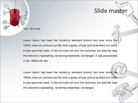 Шаблон PowerPoint Веб-сервисы и приложения - Второй слайд