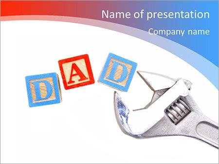 Шаблон презентации Папа и отец - Титульный слайд