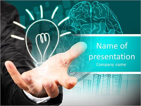 Шаблон презентации Бизнесмен с успешными идеями - Титульный слайд