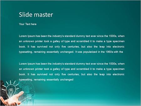 Шаблон PowerPoint Бизнесмен с успешными идеями - Второй слайд