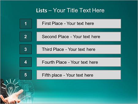 Шаблон для презентации Бизнесмен с успешными идеями - Третий слайд
