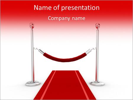Шаблон презентации Красная ковровая дорожка - Титульный слайд