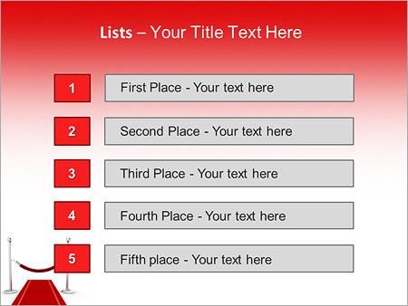 Шаблон для презентации Красная ковровая дорожка - Третий слайд