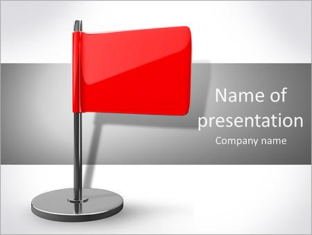 Шаблон презентации Красный флаг - Титульный слайд