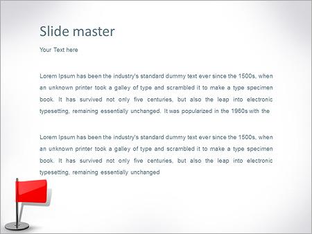 Шаблон PowerPoint Красный флаг - Второй слайд