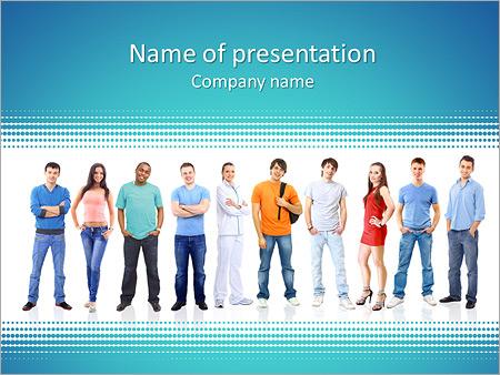 Шаблон презентации Студенты - Титульный слайд