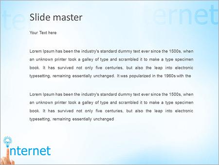 Шаблон PowerPoint Интернет концепция - Второй слайд
