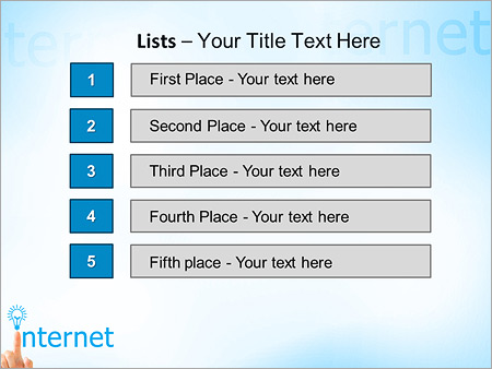 Шаблон для презентации Интернет концепция - Третий слайд