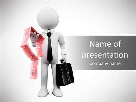 Шаблон презентации Бизнесмен с отчетом в руках - Титульный слайд