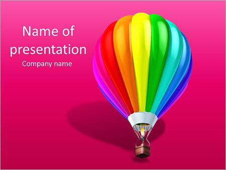 Шаблон презентации Красочный воздушный шар - Титульный слайд