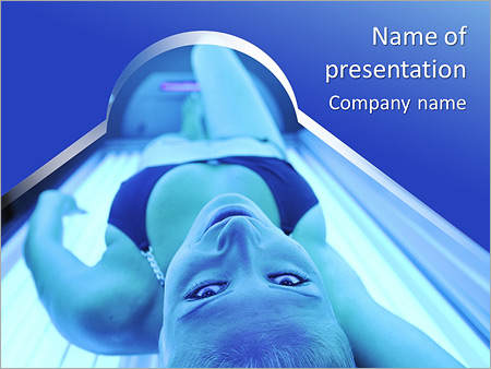 Шаблон презентации Женщина в солярии - Титульный слайд