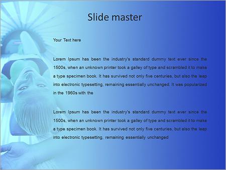 Шаблон PowerPoint Женщина в солярии - Второй слайд