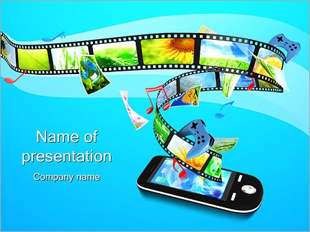 Шаблон презентации Фотолента в телефоне - Титульный слайд