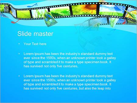 Шаблон PowerPoint Фотолента в телефоне - Второй слайд