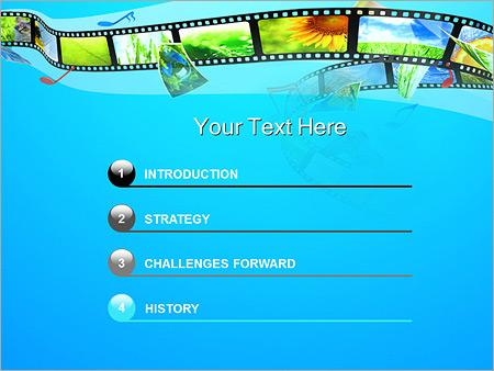 Шаблон для презентации Фотолента в телефоне - Третий слайд