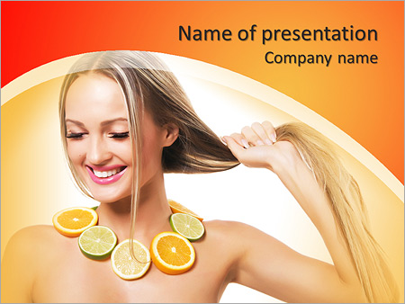 Шаблон презентации Маска для оздоровления волос и лица - Титульный слайд
