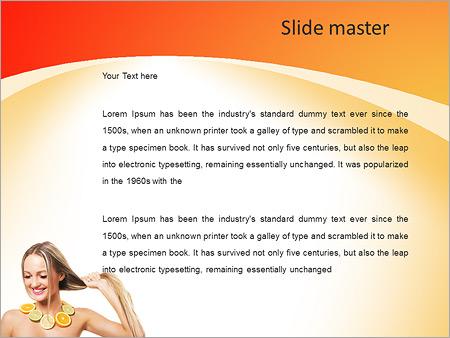 Шаблон PowerPoint Маска для оздоровления волос и лица - Второй слайд