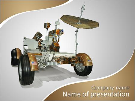 Шаблон презентации Луноход из миссии полета на луну - Титульный слайд