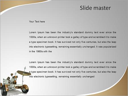 Шаблон PowerPoint Луноход из миссии полета на луну - Второй слайд