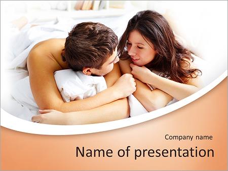 Шаблон презентации Молодая пара в постели - Титульный слайд
