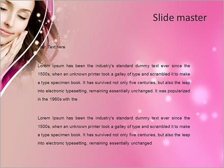 Шаблон PowerPoint Влюбленная девушка - Второй слайд