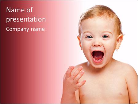 Шаблон презентации Радостный ребенок - Титульный слайд