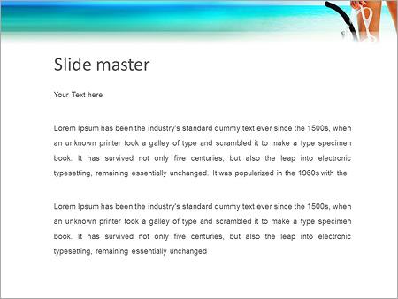 Шаблон PowerPoint Женщина с маской для ныряния - Второй слайд