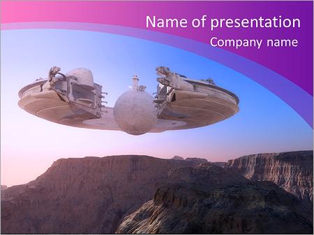 Шаблон презентации Космический корабль НЛО - Титульный слайд
