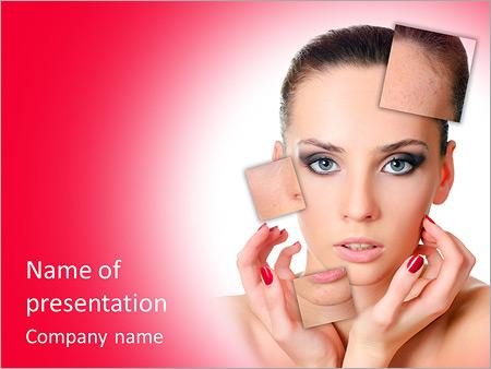 Шаблон презентации Красивая девушка с проблемной кожей лица - Титульный слайд