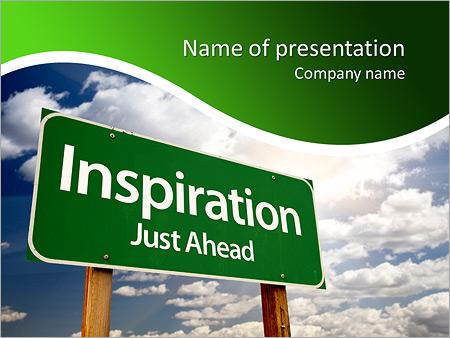Шаблон презентации Дорожный знак - Титульный слайд