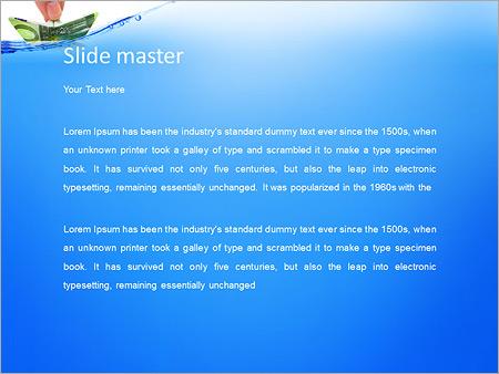 Шаблон PowerPoint Кораблик из денежных банкнот - Второй слайд