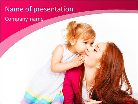 Шаблон презентации Счастливая мать и ребенок - Титульный слайд