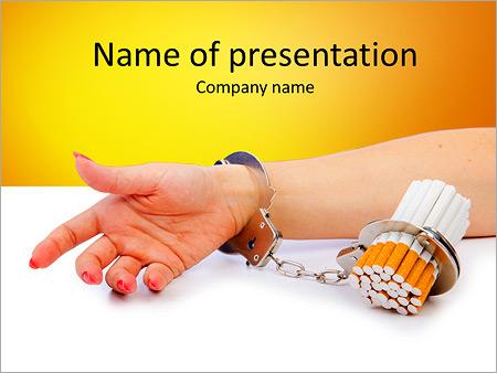 Шаблон презентации Табачная зависимость - Титульный слайд