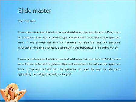 Шаблон PowerPoint Счастливая девушка на пляже - Второй слайд