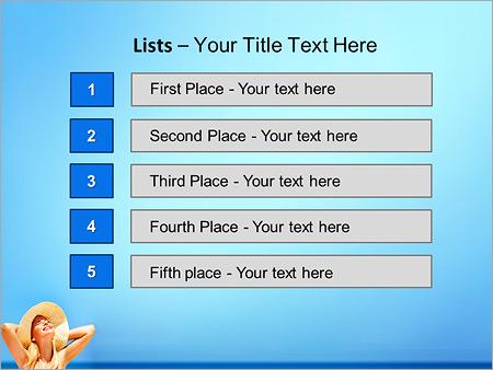 Шаблон для презентации Счастливая девушка на пляже - Третий слайд