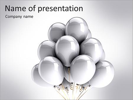 Шаблон презентации Воздушные шары - Титульный слайд