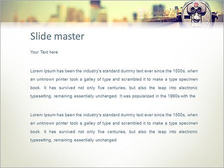 Шаблон PowerPoint Бинокль для туристов - Второй слайд