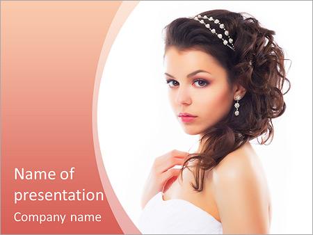 Шаблон презентации Невеста в платье - Титульный слайд