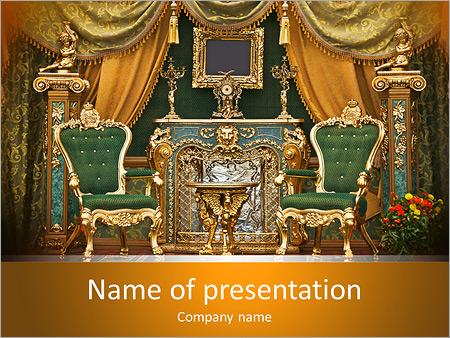 Шаблон презентации Королевский интерьер - Титульный слайд