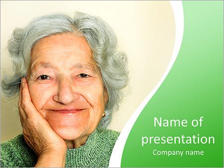 Шаблон презентации Бабушка - Титульный слайд