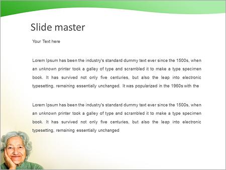 Шаблон PowerPoint Бабушка - Второй слайд